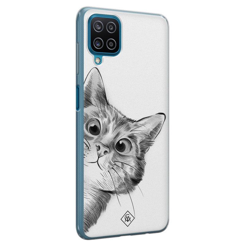 Casimoda Samsung Galaxy A12 siliconen hoesje - Peekaboo