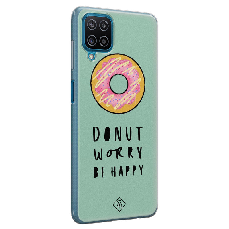 Casimoda Samsung Galaxy A12 siliconen hoesje - Donut worry