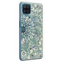 Casimoda Samsung Galaxy A12 siliconen hoesje - Mandala blauw