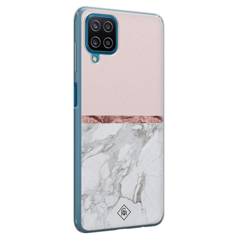 Casimoda Samsung Galaxy A12 siliconen telefoonhoesje - Rose all day
