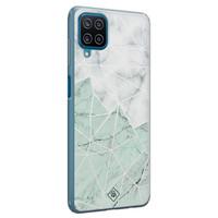 Casimoda Samsung Galaxy A12 siliconen telefoonhoesje - Marmer mint mix