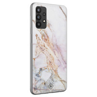 Casimoda Samsung Galaxy A32 4G siliconen telefoonhoesje - Parelmoer marmer