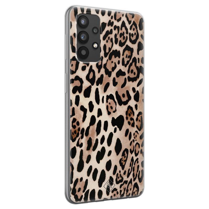 Casimoda Samsung Galaxy A32 4G siliconen hoesje - Golden wildcat