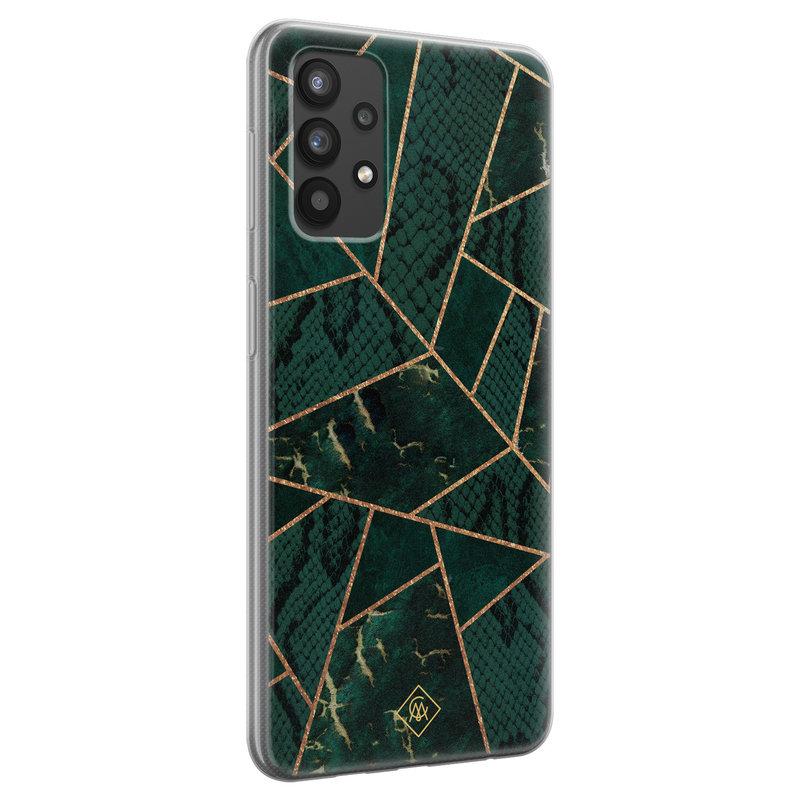 Casimoda Samsung Galaxy A32 4G siliconen hoesje - Abstract groen