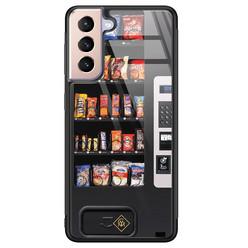 Casimoda Samsung Galaxy S21 glazen hardcase - Snoepautomaat