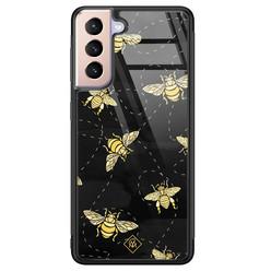 Casimoda Samsung Galaxy S21 glazen hardcase - Bee yourself