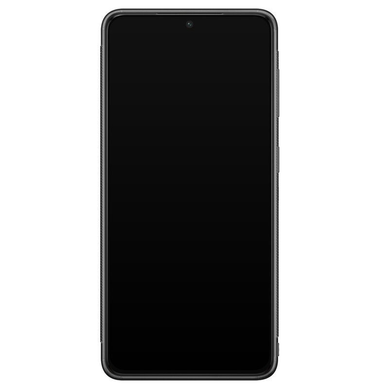 Casimoda Samsung Galaxy S21 Plus glazen hardcase - Luipaard grijs