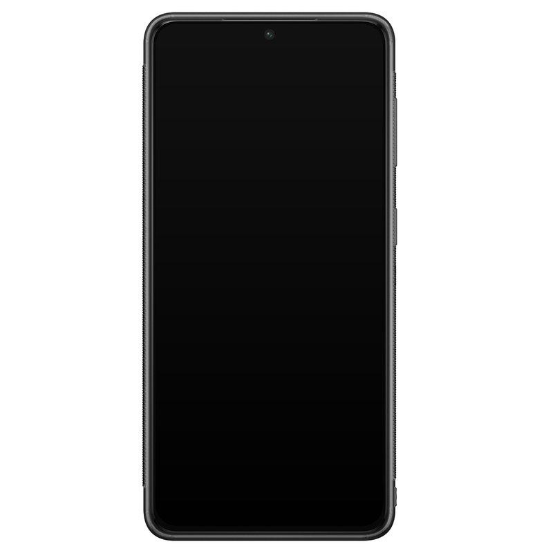 Casimoda Samsung Galaxy S21 Plus glazen hardcase - Green waves
