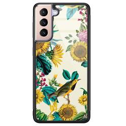 Casimoda Samsung Galaxy S21 Plus glazen hardcase - Sunflowers