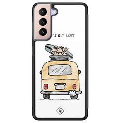 Casimoda Samsung Galaxy S21 Plus glazen hardcase - Let's get lost