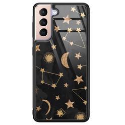 Casimoda Samsung Galaxy S21 Plus glazen hardcase - Counting the stars