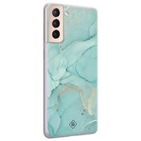 Casimoda Samsung Galaxy S21 Plus siliconen hoesje - Touch of mint