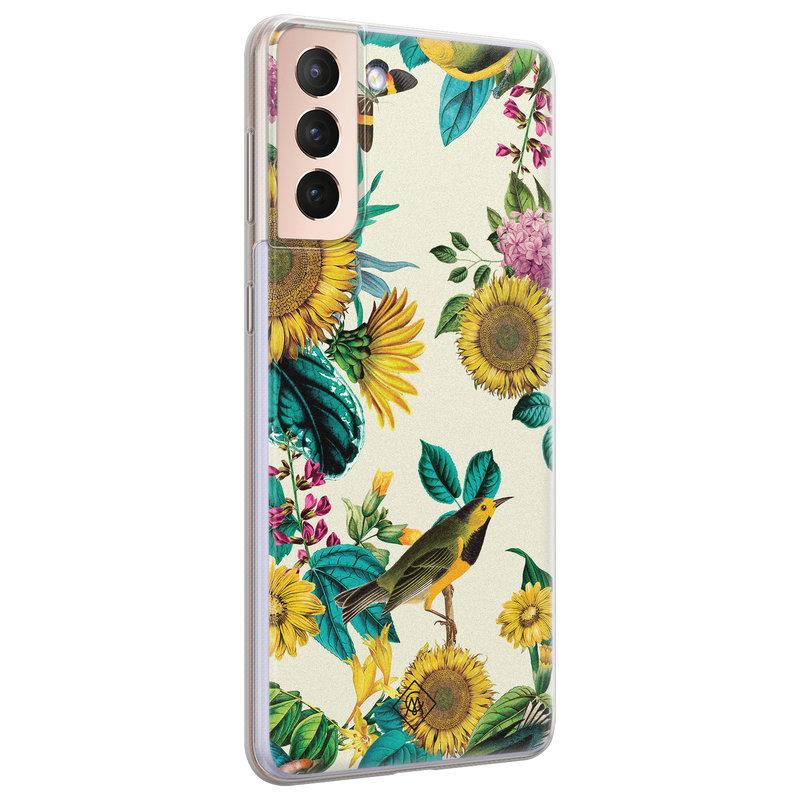 Casimoda Samsung Galaxy S21 Plus siliconen hoesje - Sunflowers