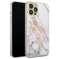 Casimoda iPhone 12 Pro siliconen telefoonhoesje - Parelmoer marmer