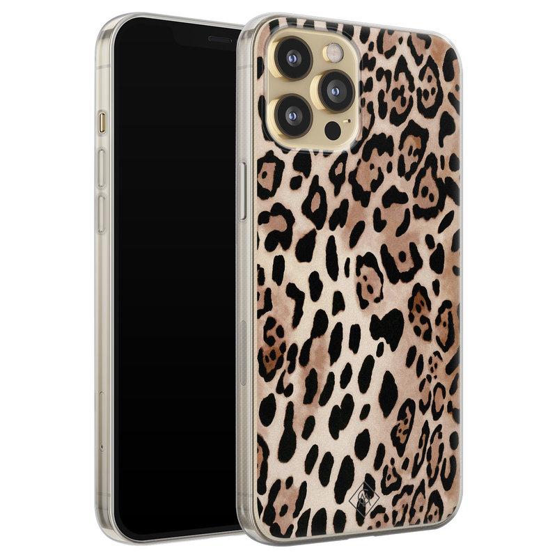 Casimoda iPhone 12 Pro siliconen hoesje - Golden wildcat