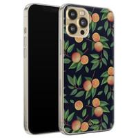 Casimoda iPhone 12 Pro siliconen hoesje - Orange lemonade