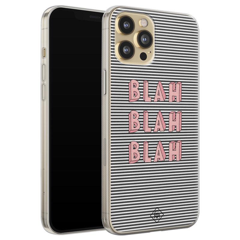 Casimoda iPhone 12 Pro siliconen telefoonhoesje - Blah blah blah