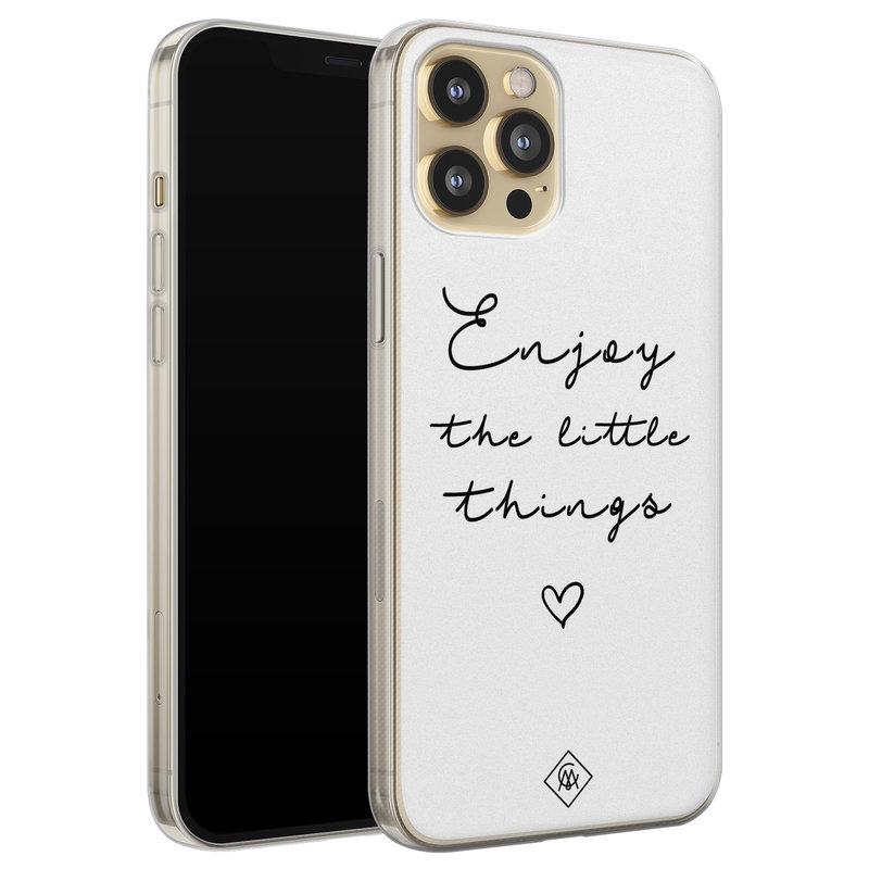 Casimoda iPhone 12 Pro siliconen hoesje - Enjoy life