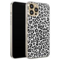 Casimoda iPhone 12 Pro siliconen telefoonhoesje - Luipaard grijs