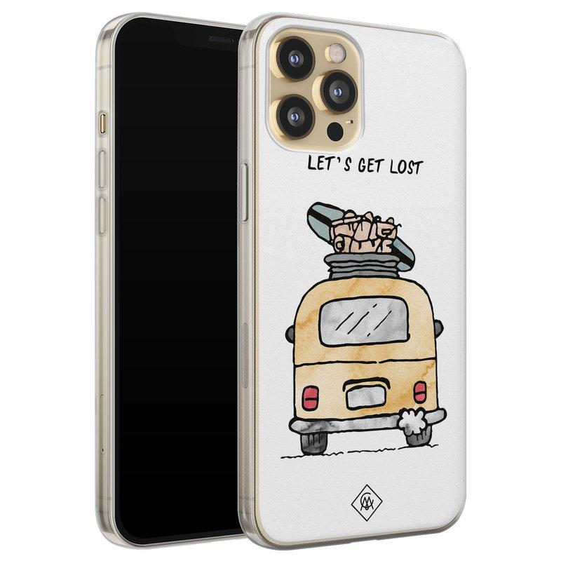 Casimoda iPhone 12 Pro siliconen hoesje - Let's get lost