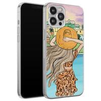 Casimoda iPhone 12 Pro Max siliconen hoesje - Sunset girl