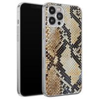 Casimoda iPhone 12 Pro Max siliconen hoesje - Golden snake