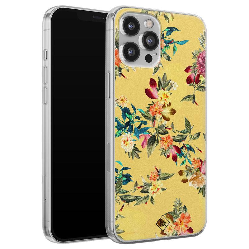 Casimoda iPhone 12 Pro Max siliconen hoesje - Floral days