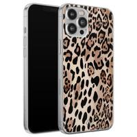 Casimoda iPhone 12 Pro Max siliconen hoesje - Golden wildcat