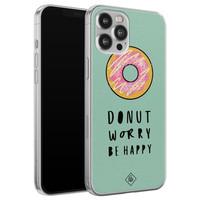Casimoda iPhone 12 Pro Max siliconen hoesje - Donut worry