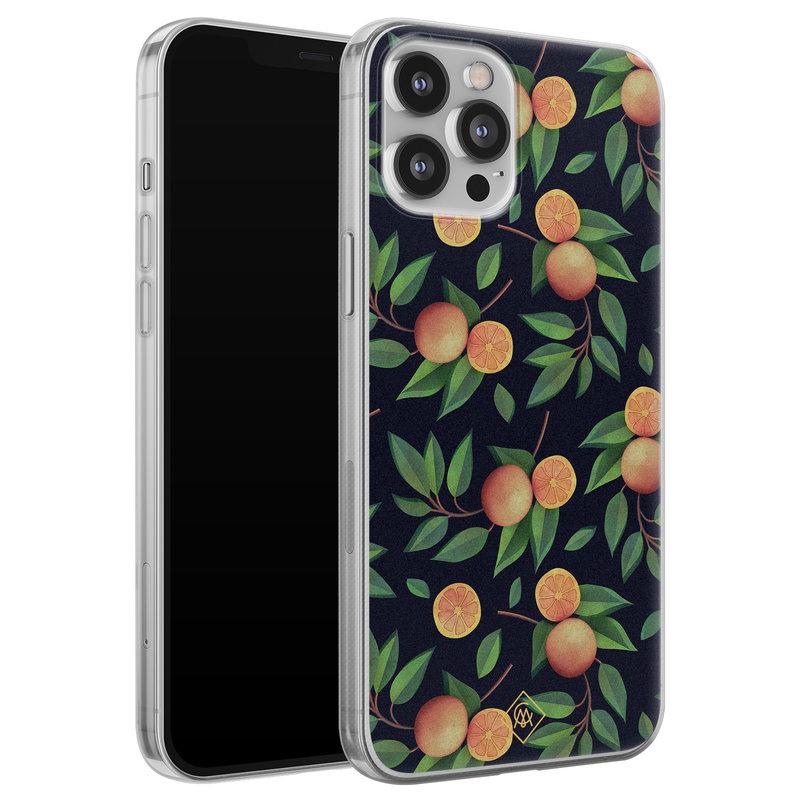 Casimoda iPhone 12 Pro Max siliconen hoesje - Orange lemonade