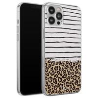 Casimoda iPhone 12 Pro Max siliconen telefoonhoesje - Leopard lines