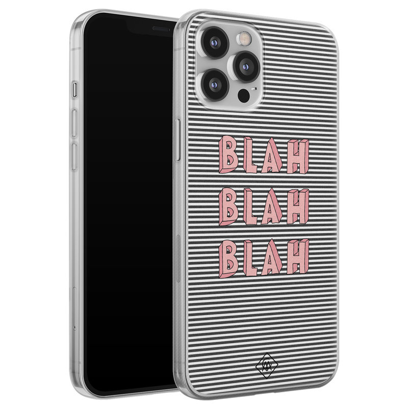 Casimoda iPhone 12 Pro Max siliconen telefoonhoesje - Blah blah blah