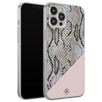 Casimoda iPhone 12 Pro Max siliconen hoesje - Snake print