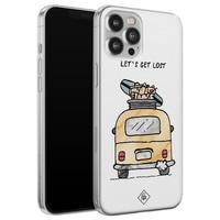 Casimoda iPhone 12 Pro Max siliconen hoesje - Let's get lost