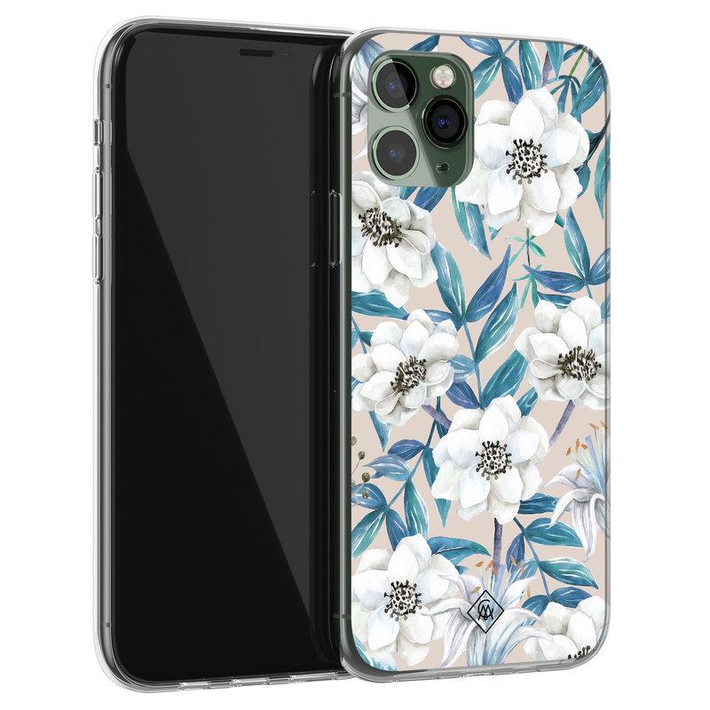 Casimoda iPhone 11 Pro siliconen telefoonhoesje - Touch of flowers