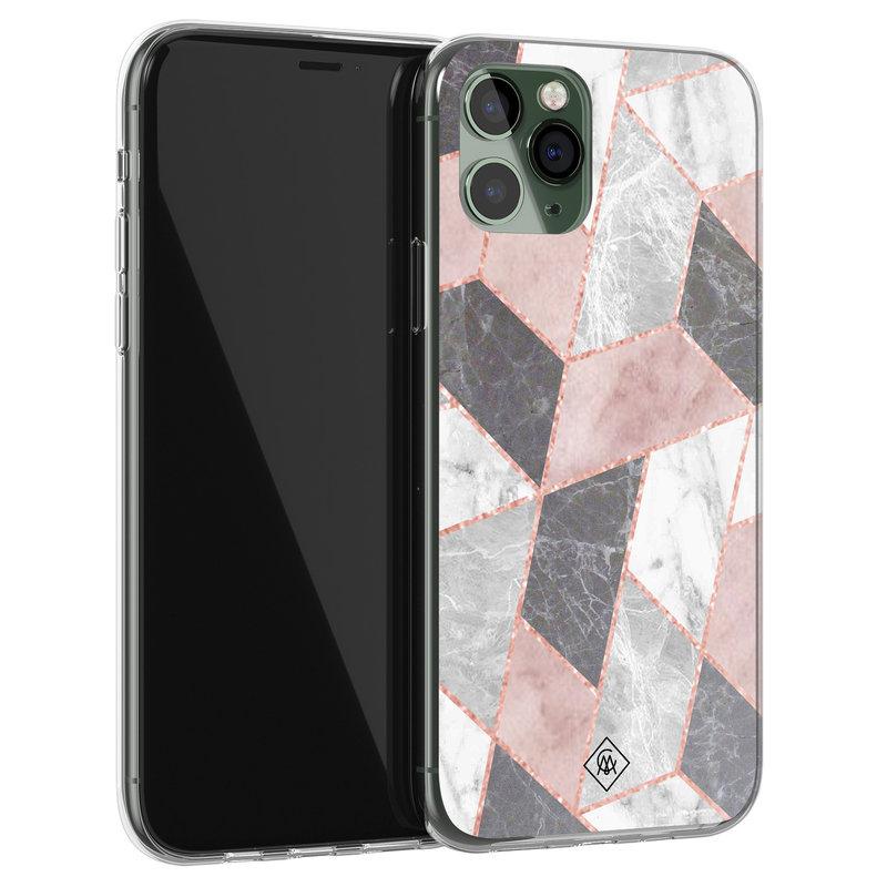 Casimoda iPhone 11 Pro siliconen telefoonhoesje - Stone grid
