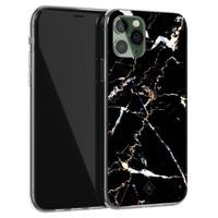 Casimoda iPhone 11 Pro siliconen hoesje - Marmer zwart