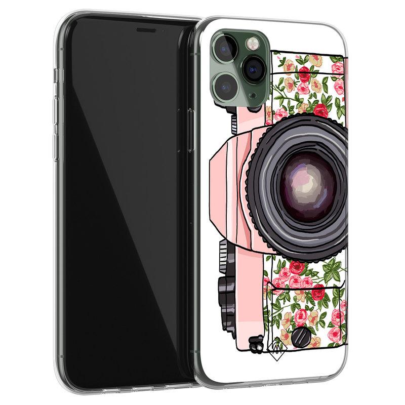 Casimoda iPhone 11 Pro siliconen telefoonhoesje - Hippie camera