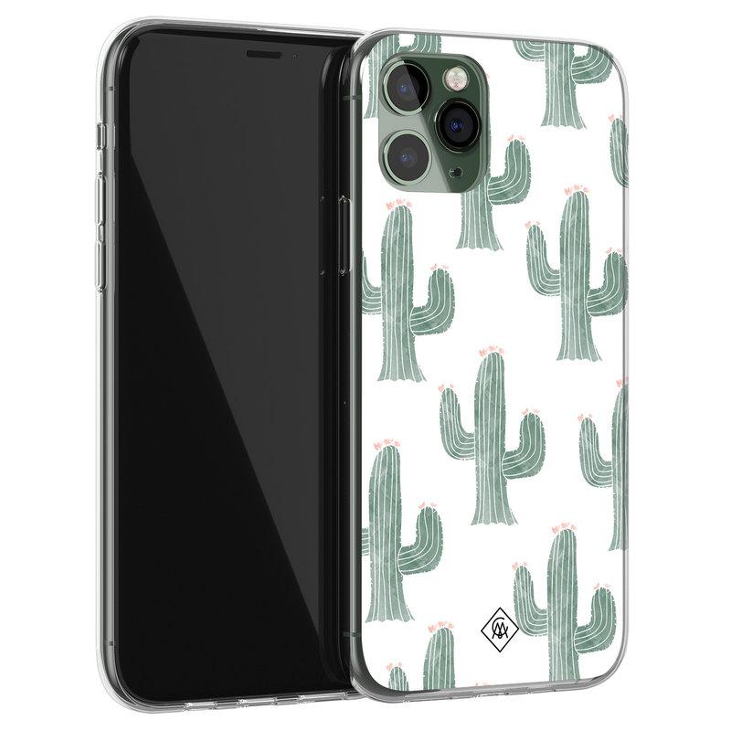 Casimoda iPhone 11 Pro siliconen telefoonhoesje - Cactus print