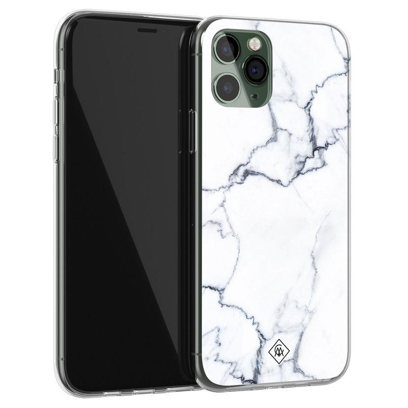 Casimoda iPhone 11 Pro siliconen hoesje - Marmer grijs