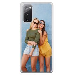 Casimoda Samsung Galaxy S20 FE siliconen hoesje - Softcase met foto