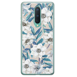 Casimoda OnePlus 8 siliconen hoesje - Touch of flowers