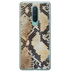 Casimoda OnePlus 8 siliconen hoesje - Golden snake