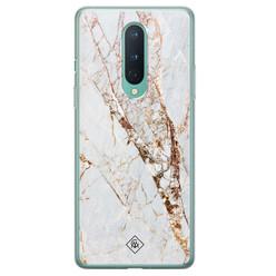 Casimoda OnePlus 8 siliconen hoesje - Marmer goud