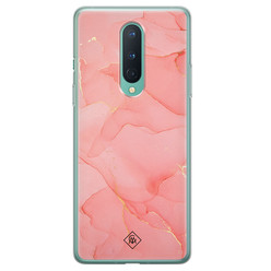 Casimoda OnePlus 8 siliconen hoesje - Marmer roze