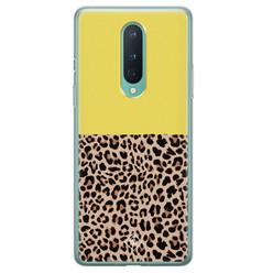 Casimoda OnePlus 8 siliconen hoesje - Luipaard geel