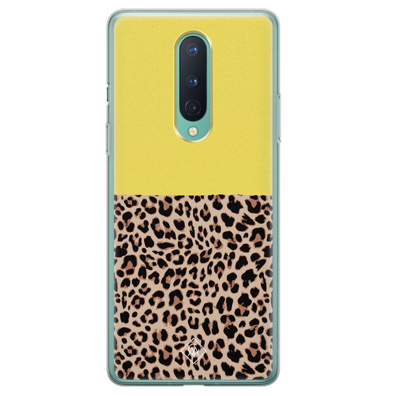 Casimoda OnePlus 8 siliconen hoesjje - Luipaard geel