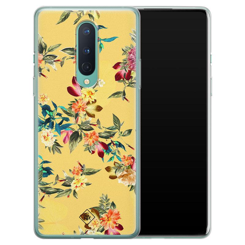Casimoda OnePlus 8 siliconen hoesje - Floral days