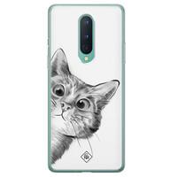 Casimoda OnePlus 8 siliconen hoesje - Peekaboo