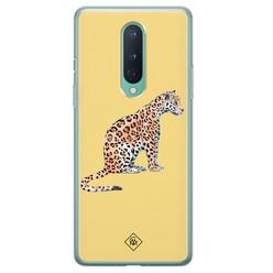 Casimoda OnePlus 8 siliconen hoesje - Leo wild